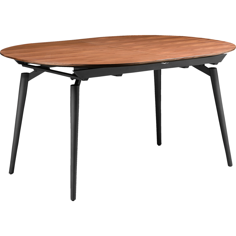 table extensible plaquee noyer 4 a 8