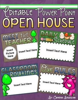 back to school open house meet the teacher dinosaur theme, Powerpoint templates