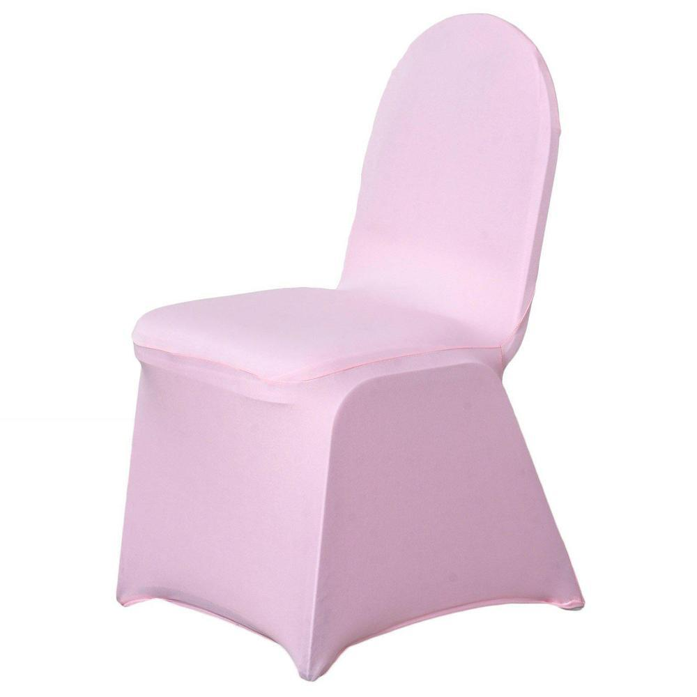 160 Gsm Pink Stretch Spandex Banquet Chair Cover With Foot Pockets In 2020 Banquet Chair Covers Chair Covers Wedding Chair Covers