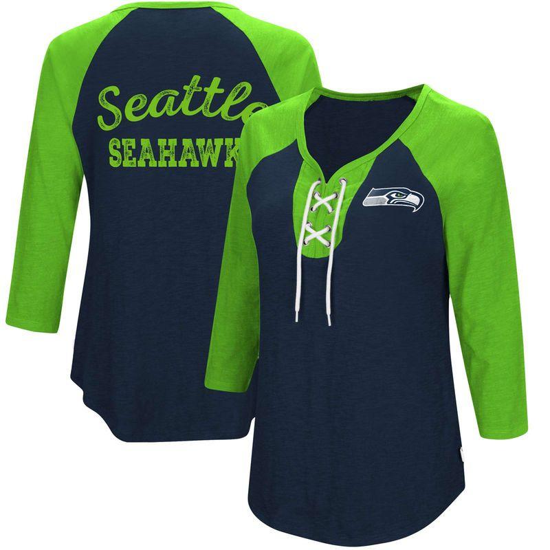 f3668a5b Seattle Seahawks Touch by Alyssa Milano Women's Home Run Raglan T ...