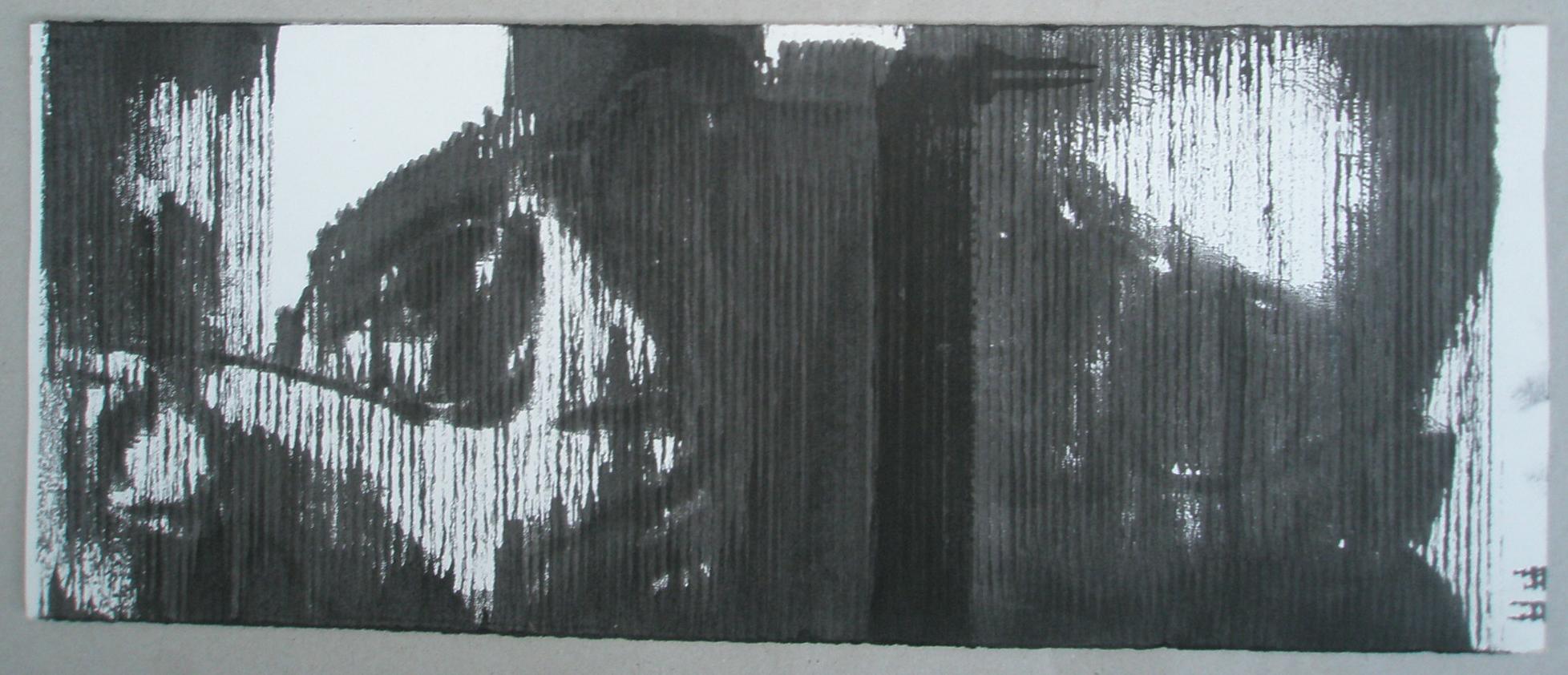 self portraits [1992] print on paper  I kind of hacked