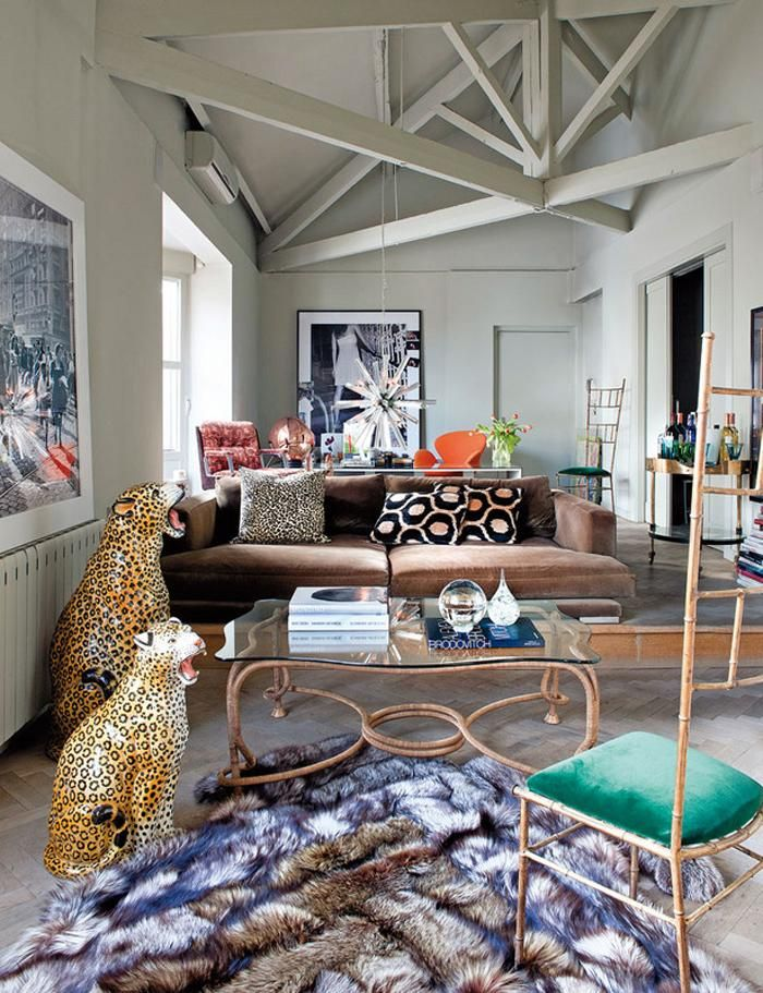 A little kitsch goes a long way when done right. | 25 Absoluely Gorgeous Living Room Decor Ideas | StyleCaster