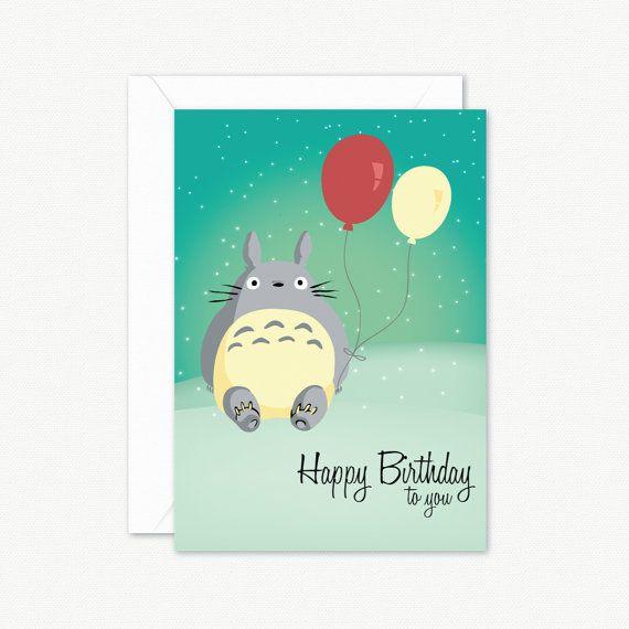 Totoro studio ghibli birthday greeting card by paperboundlove totoro studio ghibli birthday greeting card by paperboundlove bookmarktalkfo Choice Image