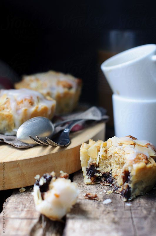 Almond and sour cherry marmalade cake in flaky pastry by Beatrix Horváth-Gallai