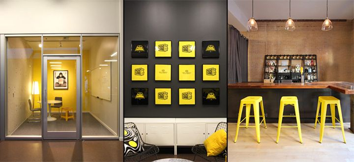 pocket change office by blitz san francisco california yellow