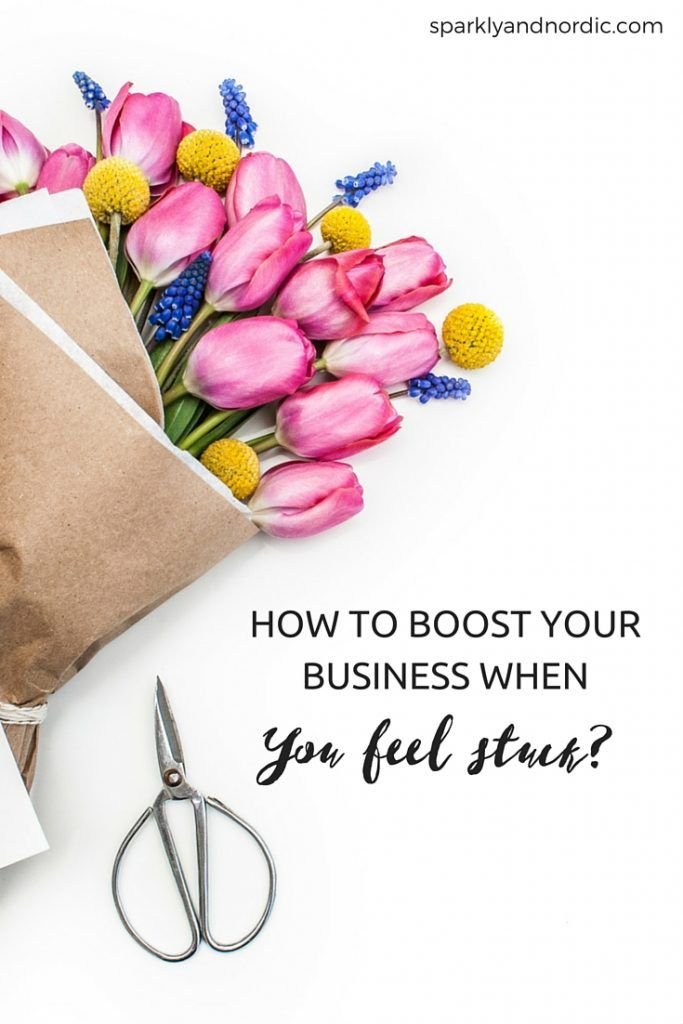 How to boost your business when you feel stuck and feel like doing nothing.