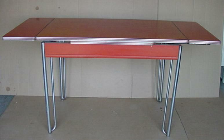 vintage 50\'s formica and chrome howell kitchen table with 2 ...
