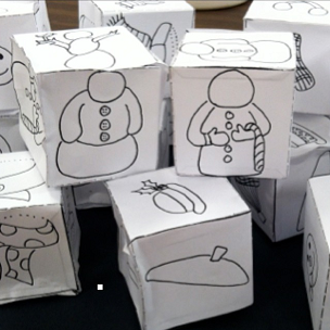 Super fun winter-themed art activity! Roll the dice and draw a snowman! After assembling dice containing snowman parts, your students will play a game to draw an endless variety of snowmen!