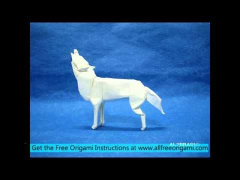 Origami wolf designed and folded by roh hyok kyun(me) : origami | 360x480