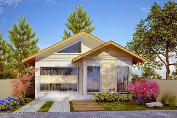 Fachada de casa pequena com 3 quartos decoracion for Decoracion de fachadas de casas pequenas