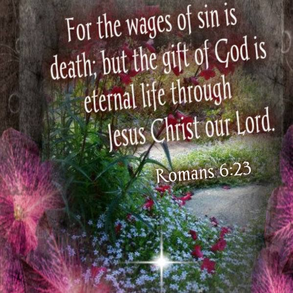 For the wages of sin is death; but the gift of God is eternal life through Jesus Christ our Lord ~ Romans 6:23