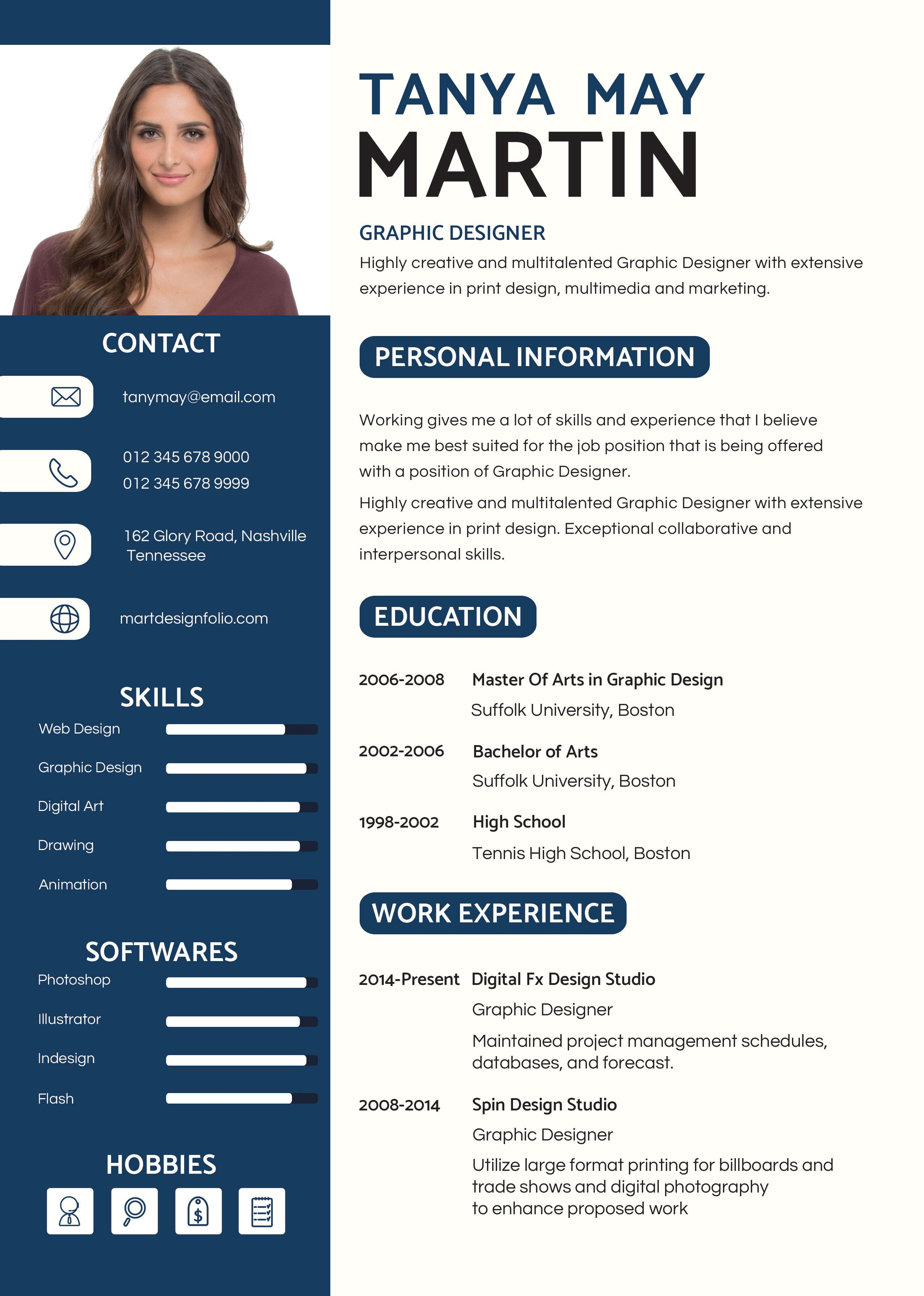 Resume Template Design Free Download Word