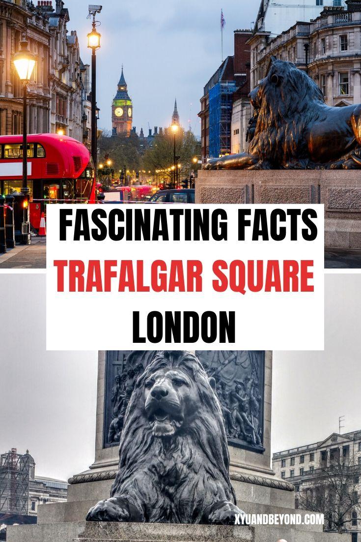 The Lions Of Trafalgar Square London England Travel Visiting England Trafalgar Square London