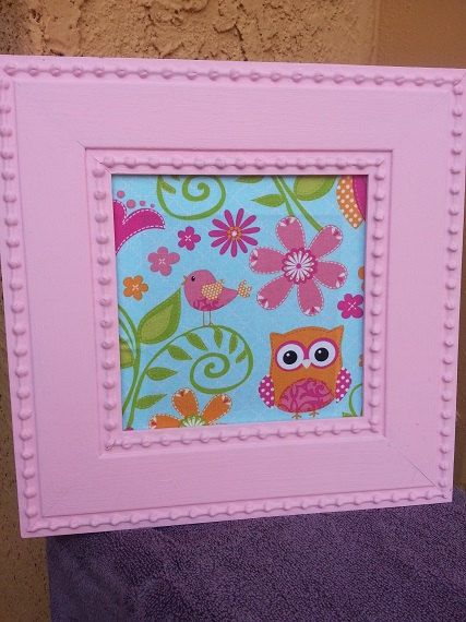 ADORABLE Pink and Blue OWL MAGNETIC make up board!
