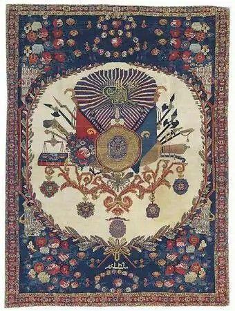 Senneh rug, dated 1891. Christies 10 April 2008