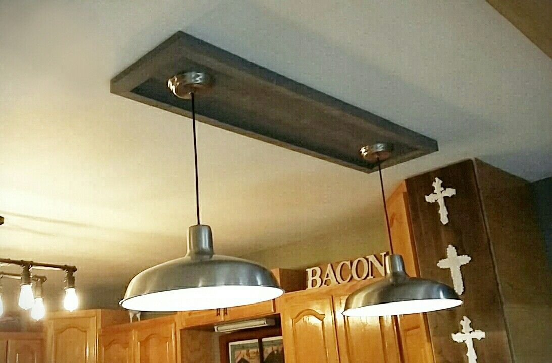 DIY wood ceiling medallion with a weathered grey wood stain. | decor ...
