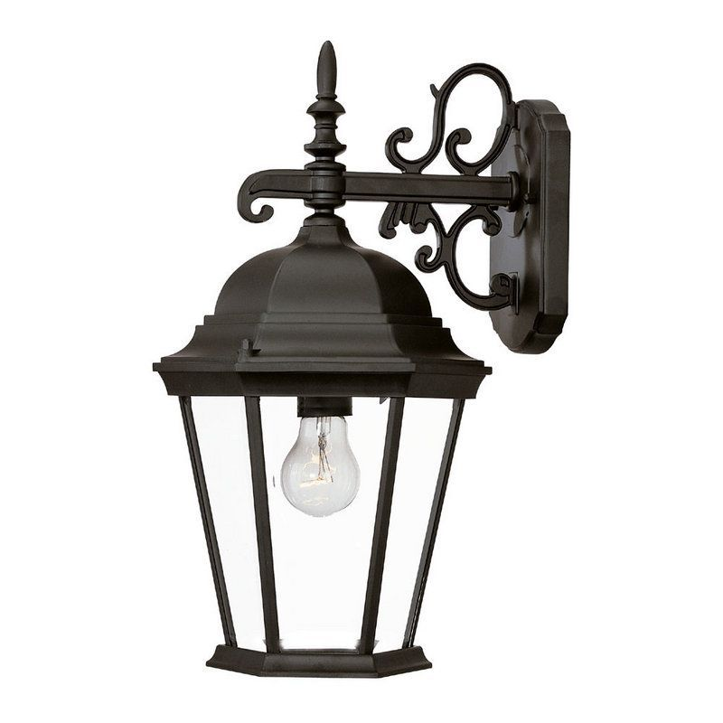 "Acclaim Lighting 5202 Richmond 1 Light 17.5"" Height Outdoor Wall Sconce Matte Black / Clear Beveled Glass Outdoor Lighting Wall Sconces Outdoor Wall"