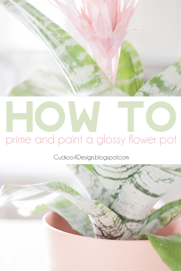 Painting a glossy flower pot