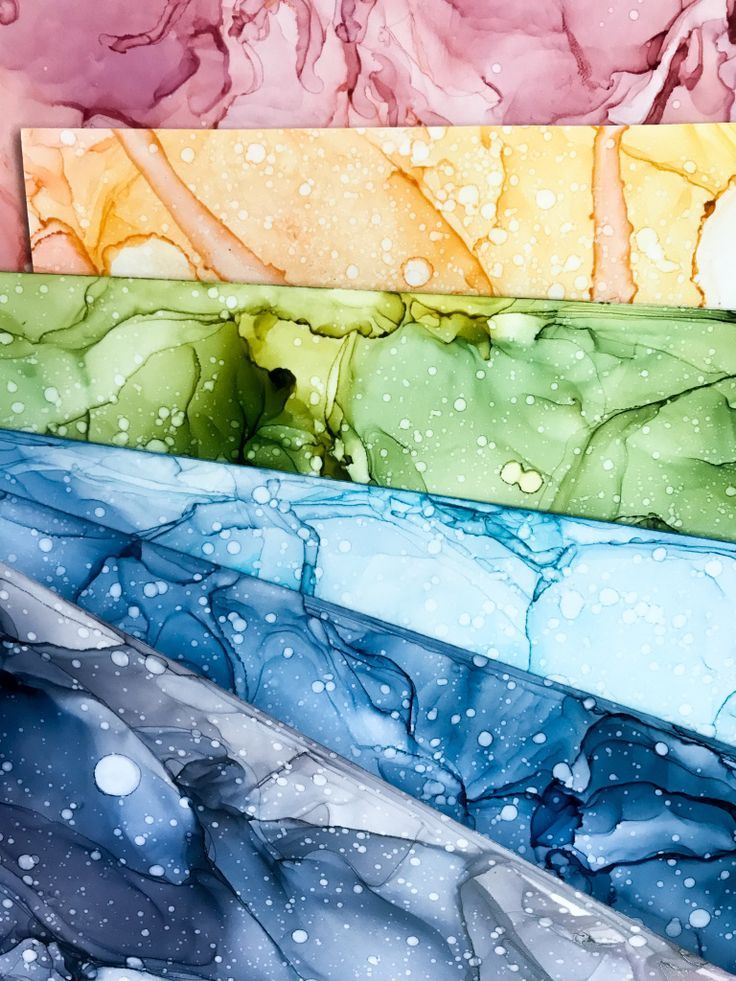 How To: Alcohol Inks – Paintings by Agnes