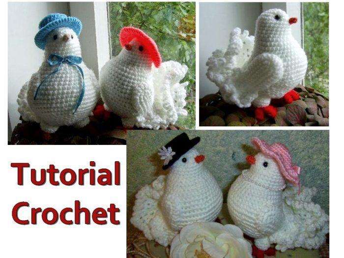 Amigurumi Bird Tutorial : Lovely dove in crochet u tutorial trends only pictures