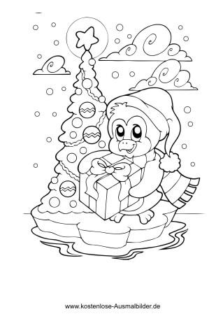 Ausmalbild Christbaum Im Schnee Christbaum Ausmalen Weihnachtsmalvorlagen