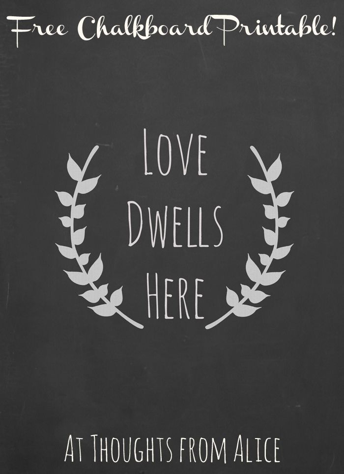 love dwells here laurel wreath free chalkboard printable available at thoughts from alice