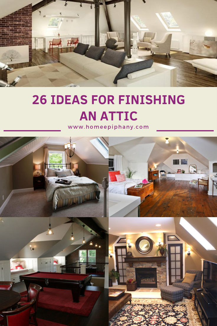 26 Stunning Ideas For Finishing An Attic Pictures Homedesign