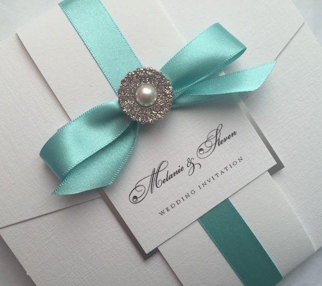 Elegant wrap wedding invitation by Simply Stylish Stationery - formal handmade invitation cards