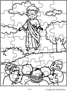 Jesus Ascension Puzzle- Activity Sheet « Crafting The Word Of God