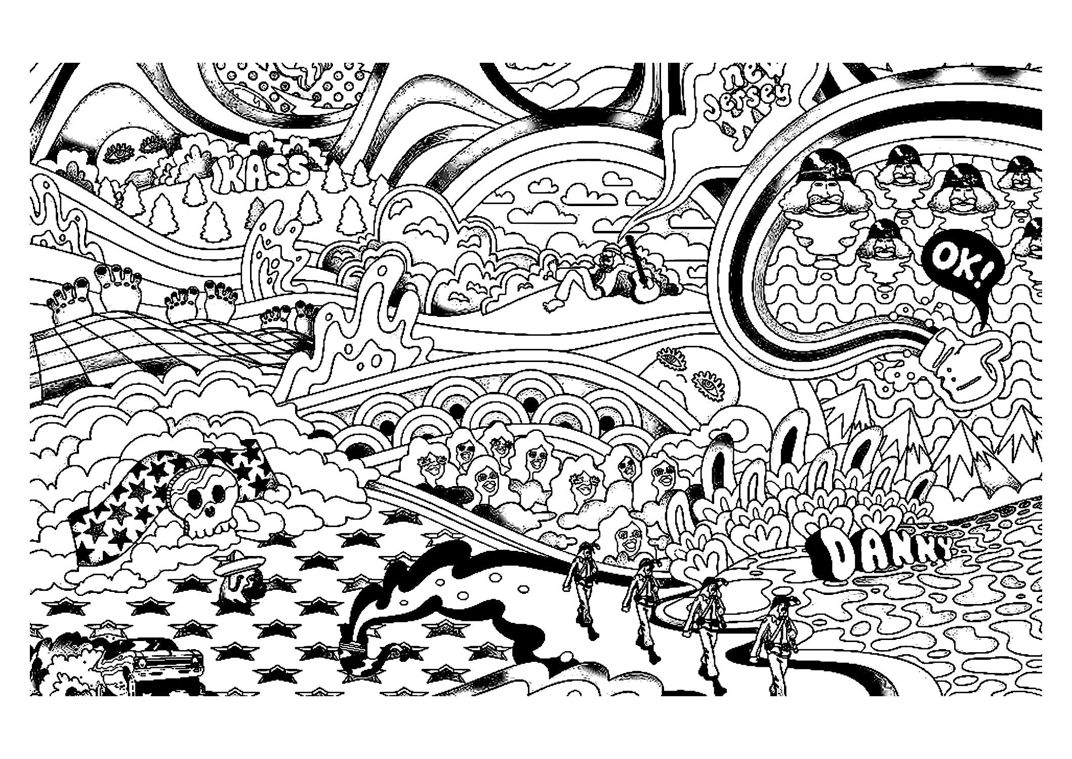 Trippy Coloring Pages Pinterest Pics