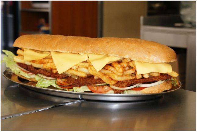 Best Sandwich in town -Get your Gatsby at the Golden Dish in the Gatesville  Center, Rylands   South african recipes, African food, Cooking recipes