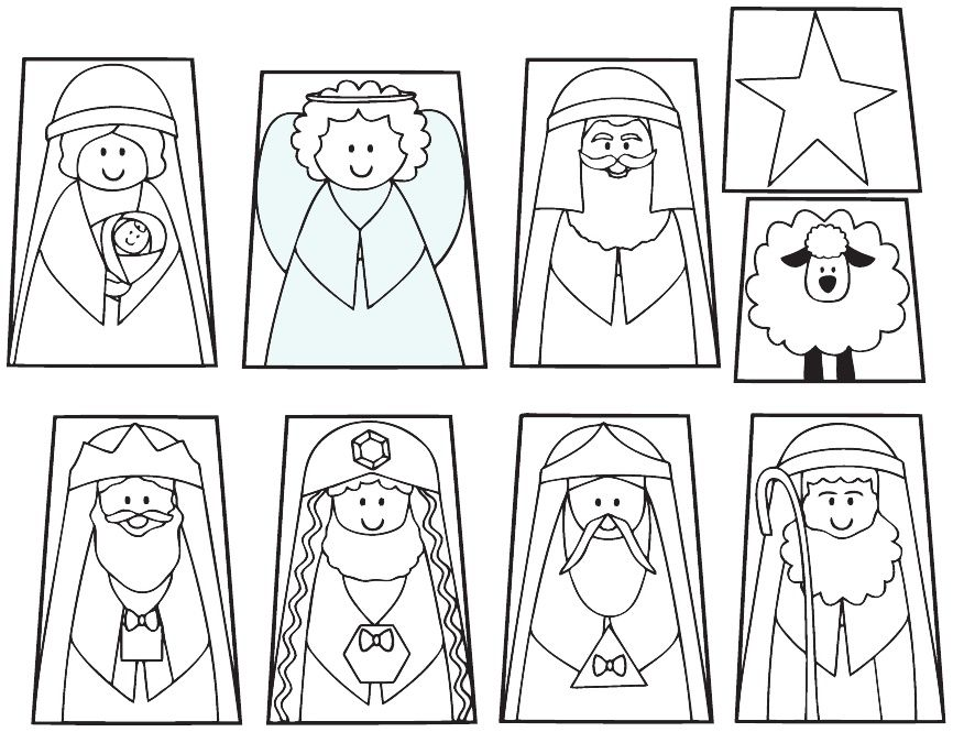 Nativity Finger Puppets And Templates For Kids