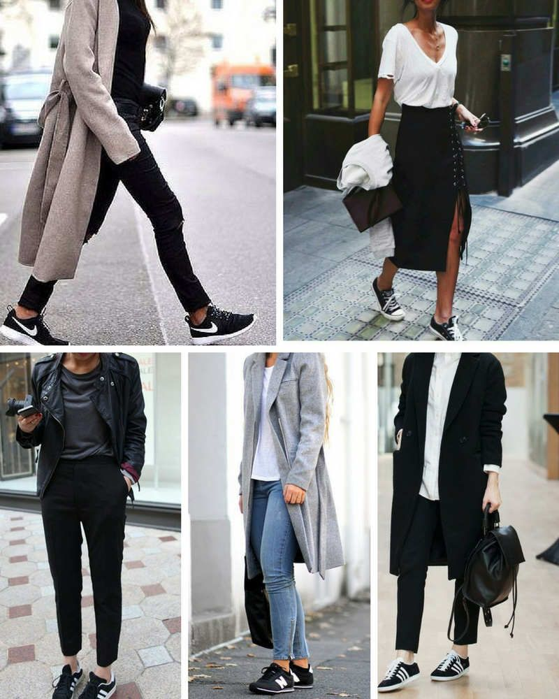 zapatillas casual mujer negras nike