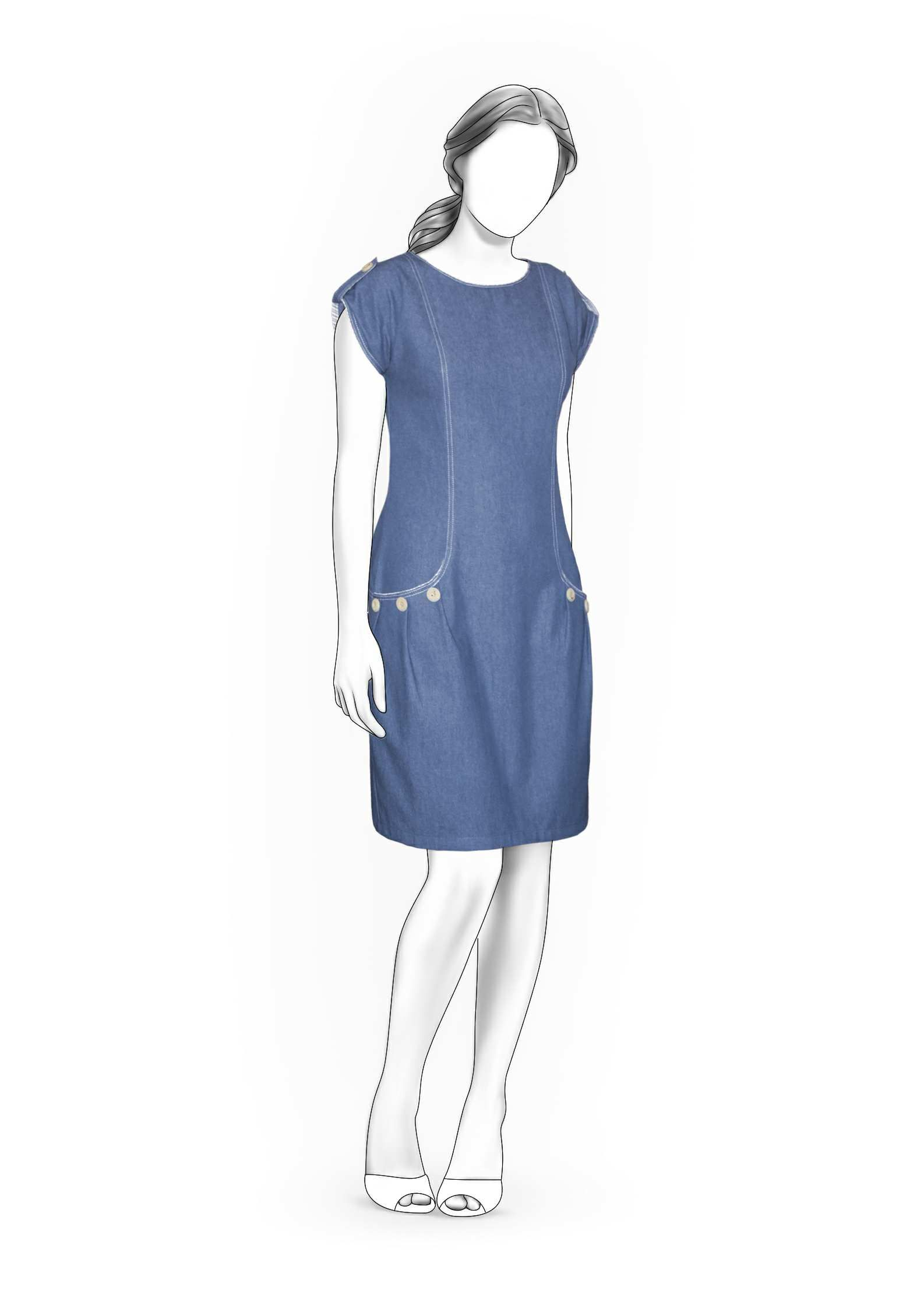 Kleid - Schnittmuster #4026 Made-to-measure sewing pattern from ...