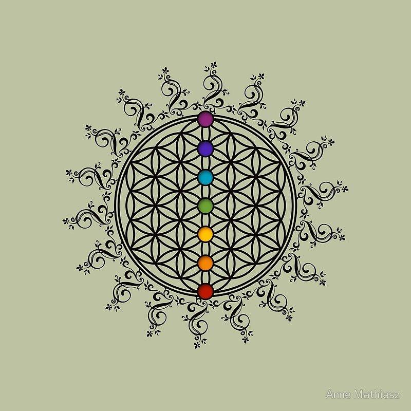Flor De La Vida Mandala Tatuaje