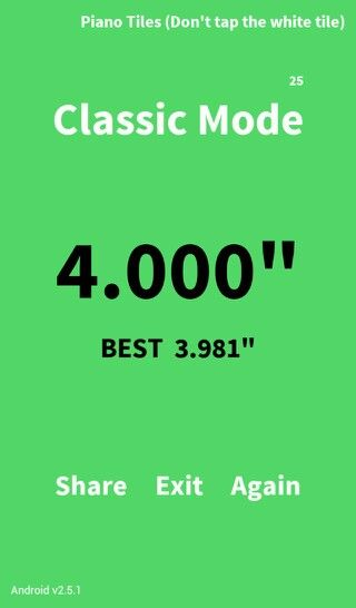 """So... highscore 3.981"""" thats great... BUT I GOT EXACTLY 4 SECONDS!!!! OCD for games now cured"""