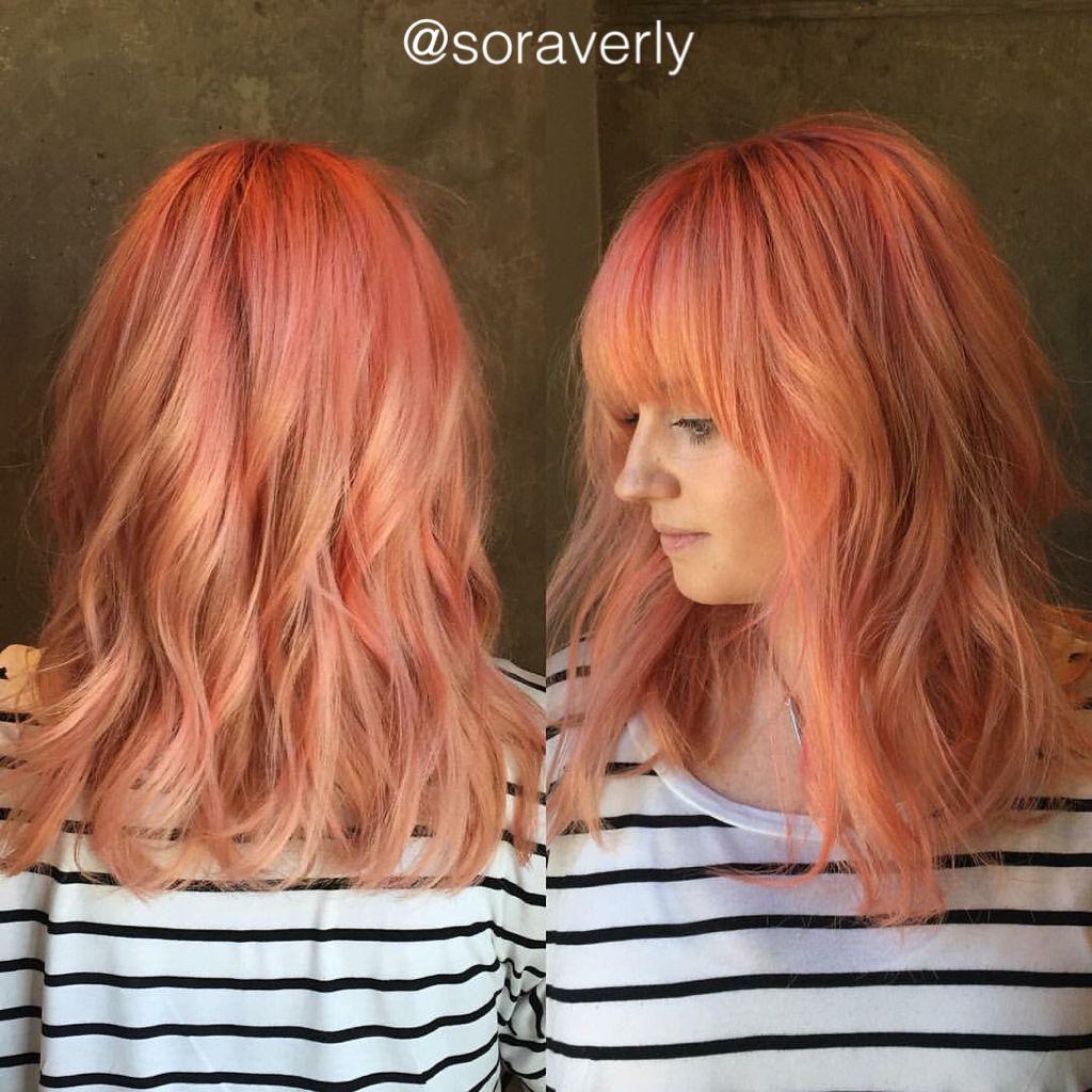 Coral Pastel hair catalog photo