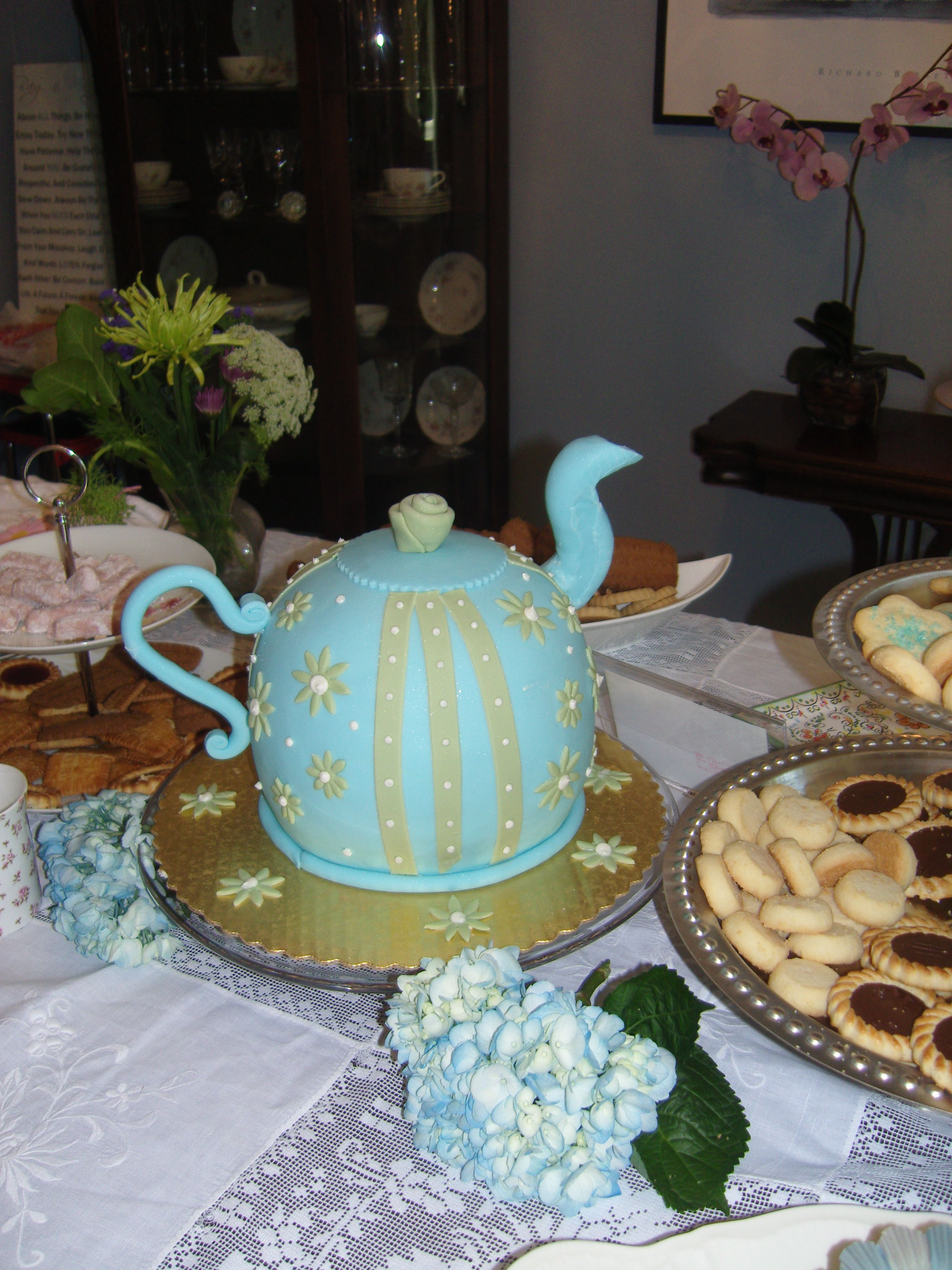 The cake from the Ladies Tea Party/Baby shower I threw