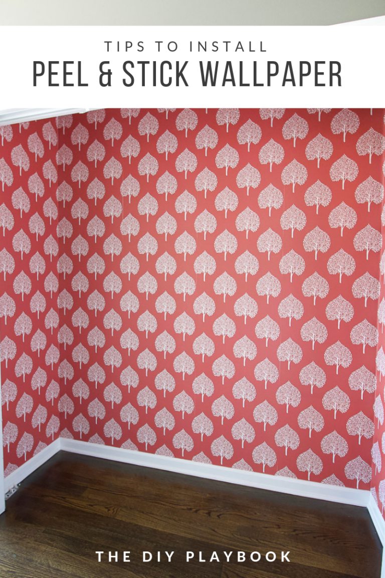 Tips To Install Peel And Stick Wallpaper This Is Such A Great Way To Add Some Color And Pattern To Any Spa Peel And Stick Wallpaper Diy Playbook Diy Wallpaper