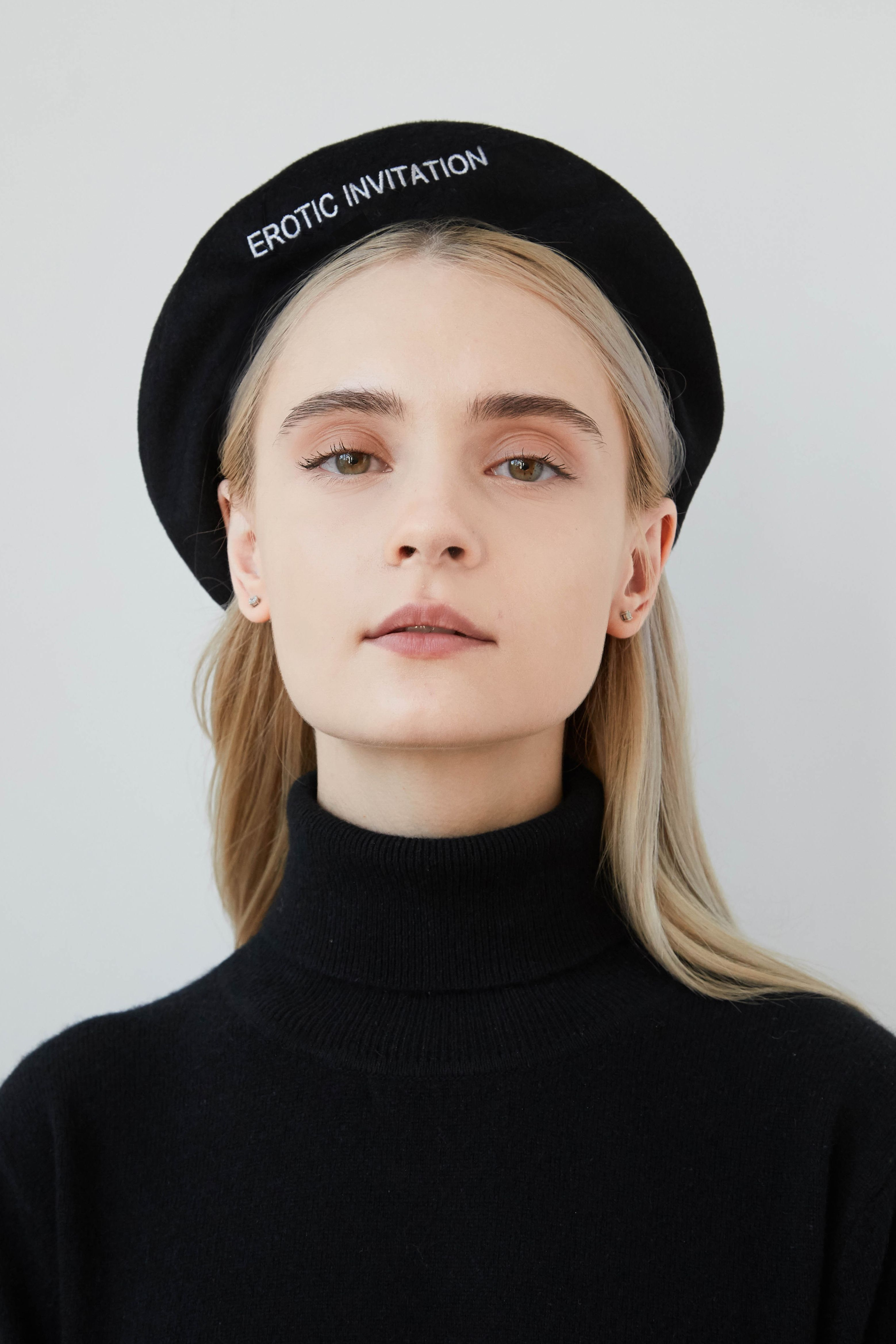 f5c72d2d7cd LOLITA Cashmere beret with embroidery