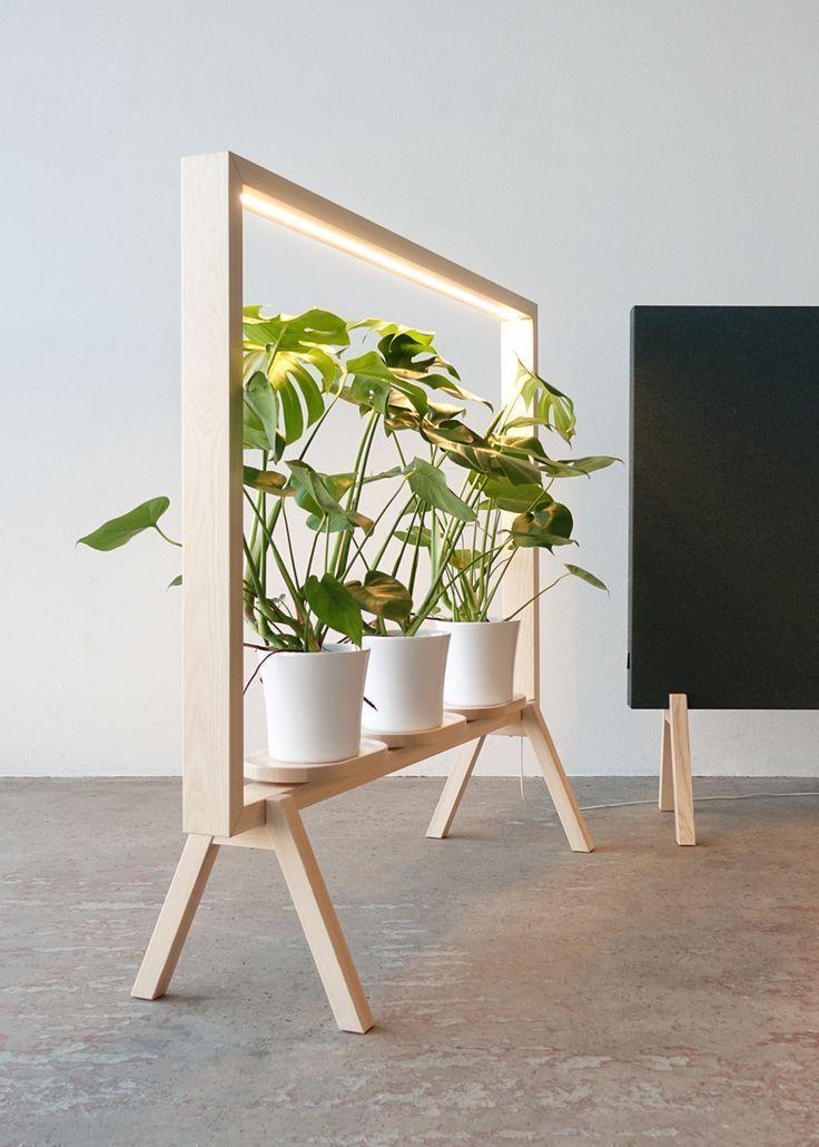 johan kauppi launches illuminated frame for potted plants at stockholm furniture...#frame #furniture #illuminated #johan #kauppi #launches #plants #potted #stockholm
