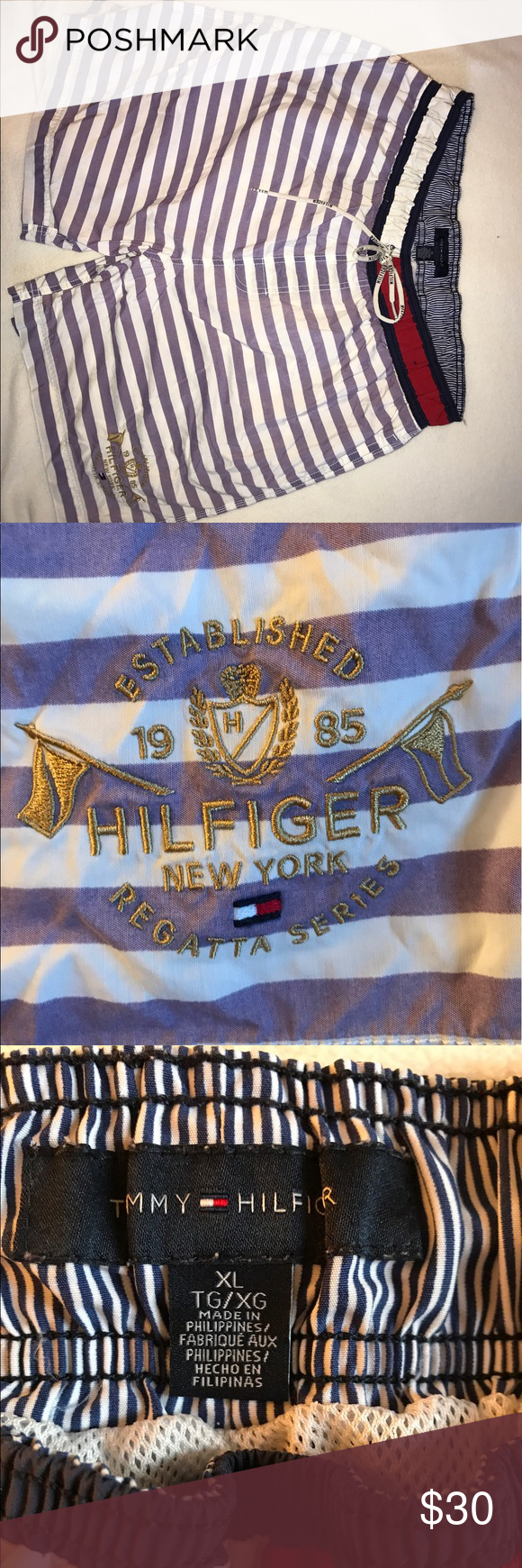 Tommy Hilfiger swim shorts Great condition can fit Large too Tommy Hilfiger Swim