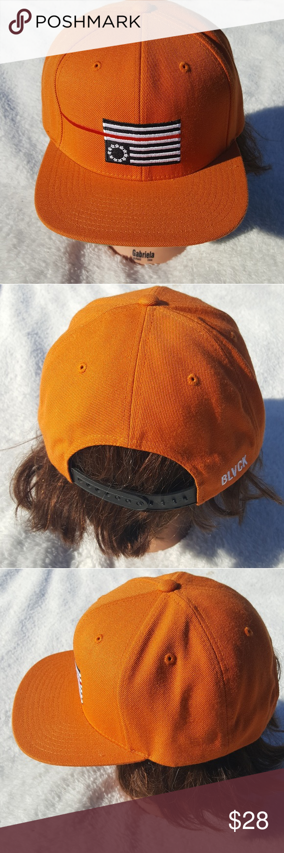 Black Scale Orange Adjustable Hat Upside Down Flag Nwt In 2019 My
