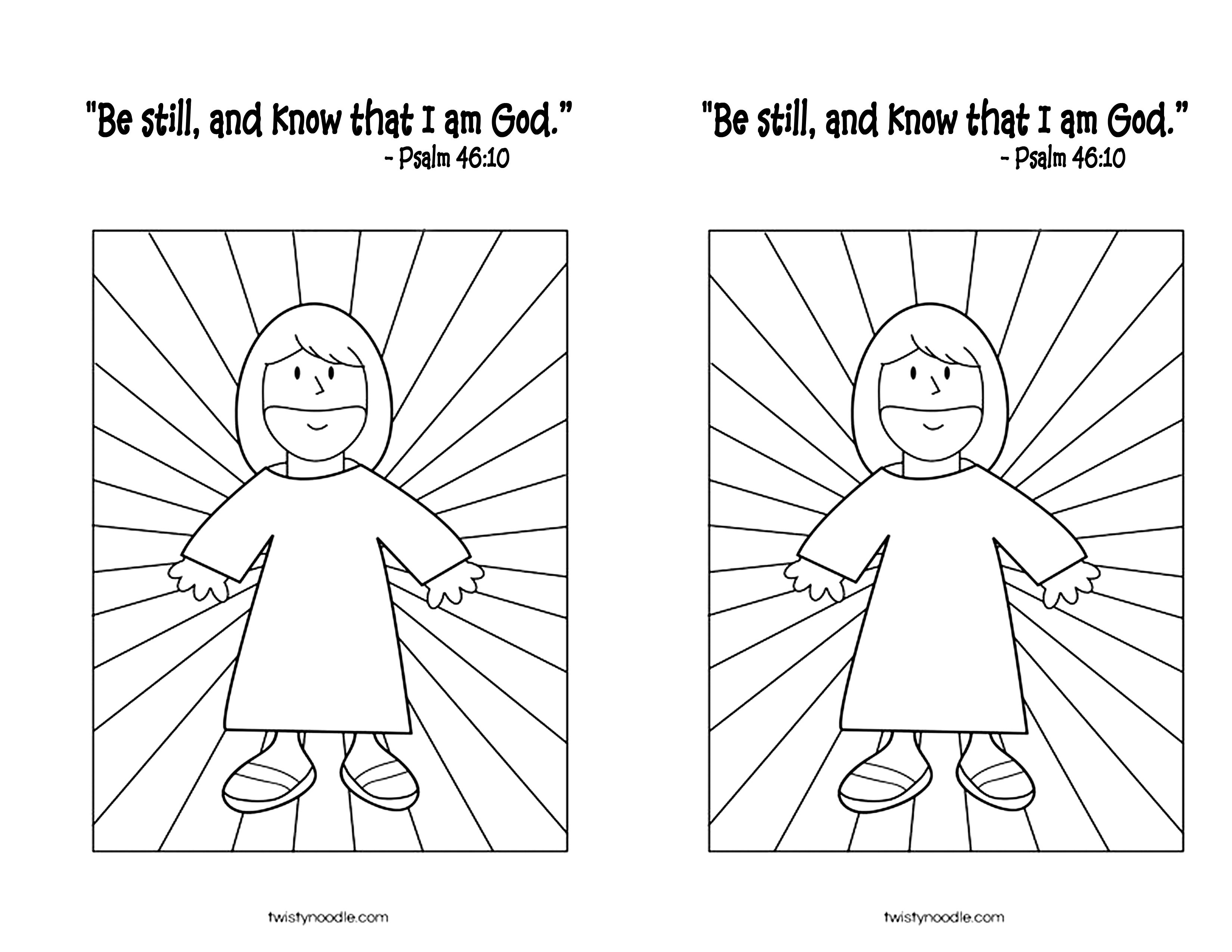 September 23 2013 Psalm 46 10 Coloring Page Jpg 3 300 2 550 Pixels