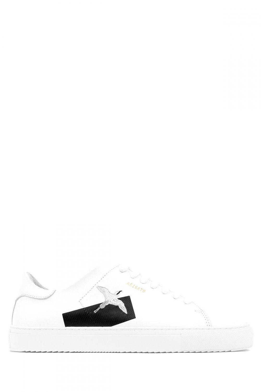 Axel Arigato Herren Sneaker Clean 90 Weiss Sailerstyle Sneaker Herren Sneaker Vogel Stickerei