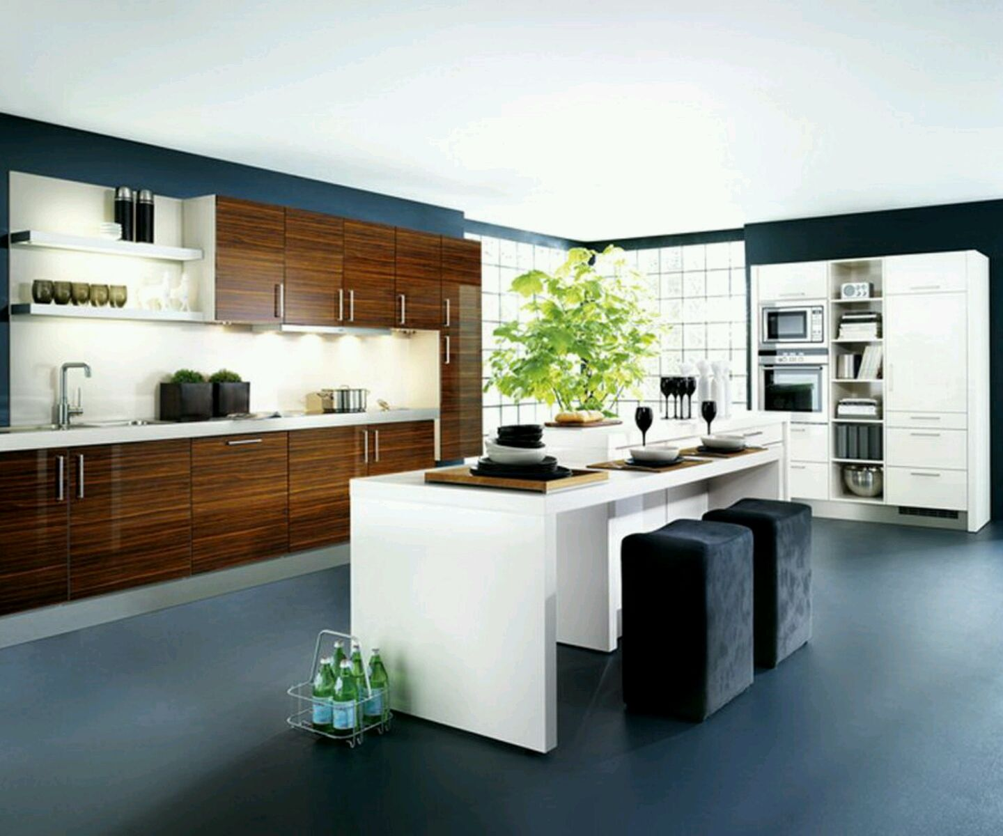 kitchen designs | New home designs latest.: Kitchen cabinets designs ...