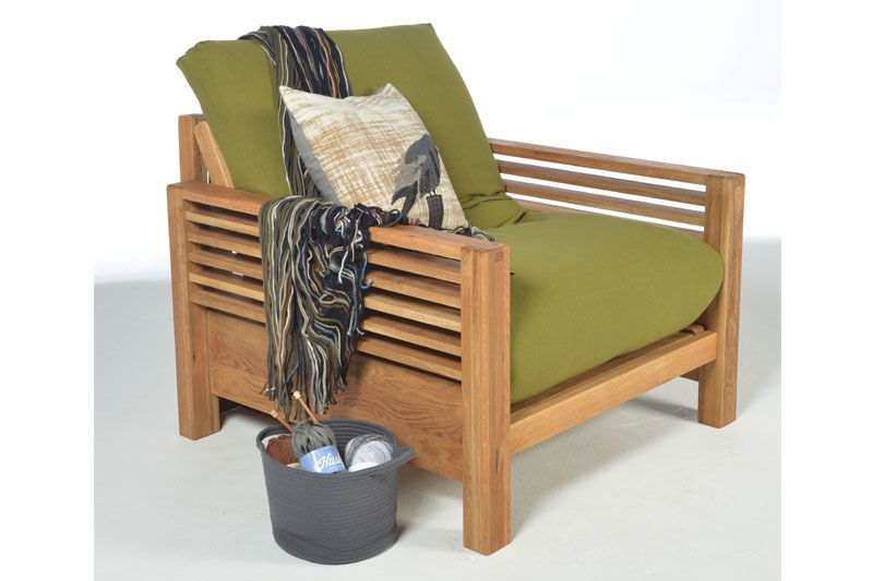 Home :: Sofa Beds :: Single Sofa Beds :: Horizon - Single Seater Oak Sofa Bed