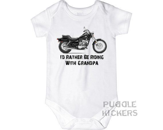 Grandpa Baby Outfit Grandpa Baby Bodysuit Grandpa Baby: Personalized Grandpa Gift Motorcycle Onesie® Baby By