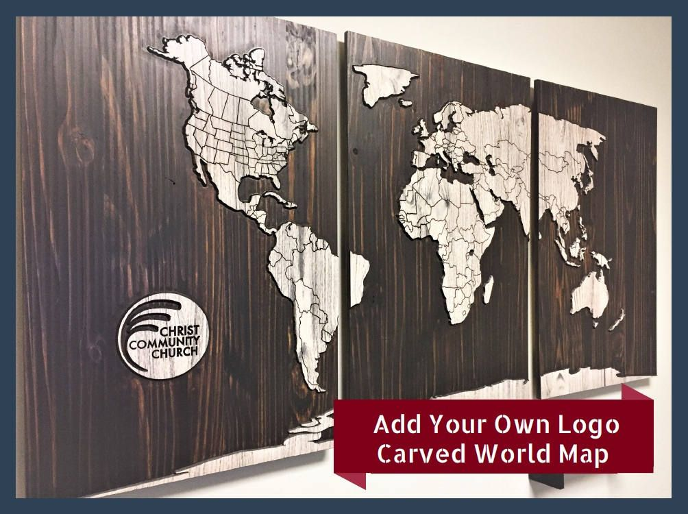 Howdy Owl Signs: Office Wall Decor, Wooden World Map, business wall ...