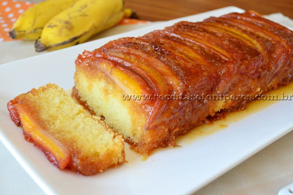 Conhecido Receita de Bolo de banana caramelada | Bolo de banana caramelada  TV78